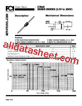 c5v1 zener diode datasheet bzy47 c5v1 datasheet pdf components international