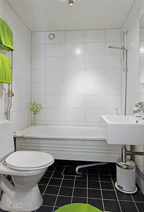 Small White Bathroom Ideas Square And Rectangular Tiles Charming White Small Bathroom Design Ideas Black Square Patterns