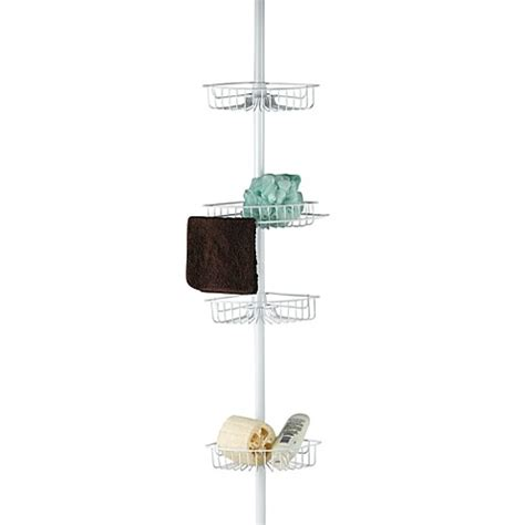 bed bath beyond shower caddy buy 4 shelf tension pole shower caddy from bed bath beyond