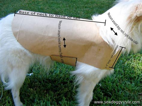pattern for dog coat fleece sew doggystyle diy pet coat pattern