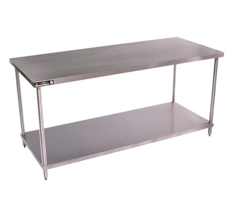stainless steel work table flat top work table with stainless steel undershelf
