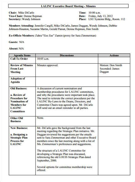 meeting notes format template 36 meeting minutes template free word pdf doc excel