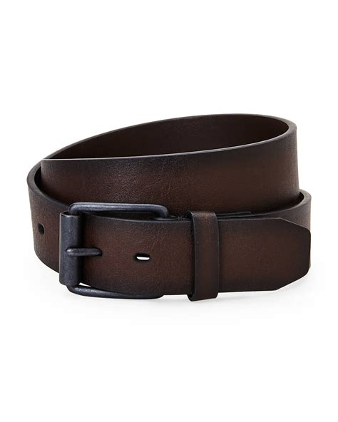 levi s brown leather belt in brown for lyst