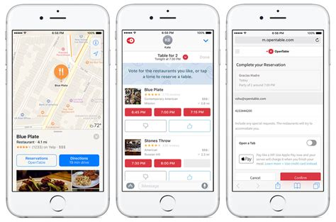 opentable for ios 10 new ways to book connect and pay