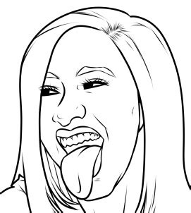 Cardi B Sketches by How To Draw Cardi B Step By Step Free