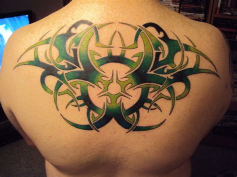 biohazard tattoo tribal biohazard