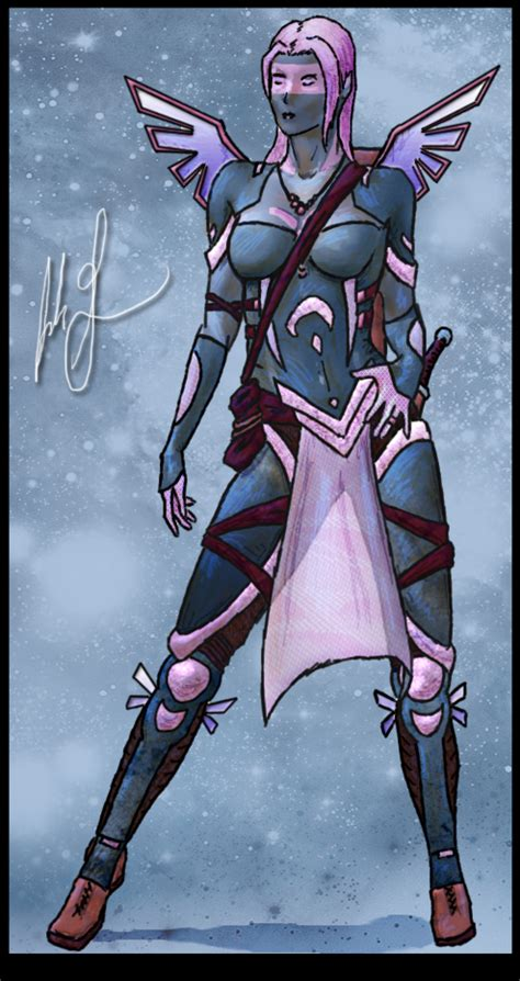 Female Deva Rogue Assassin by philosophear on DeviantArt Female Deva Dandd