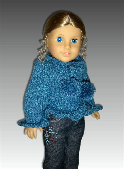 knit sweater pattern 18 inch doll knitting pattern for american girl doll sweater 18 inch