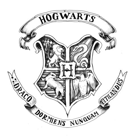 Hogwarts Acceptance Letter Logo Neverendingimaginati On Quot Digital Drawing Of Hogwarts Shield Hogwarts Harrypotter