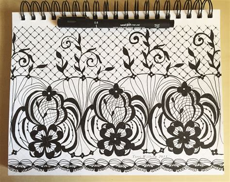 lace pattern sketch from my sketchbook lace patterns terri s notebook
