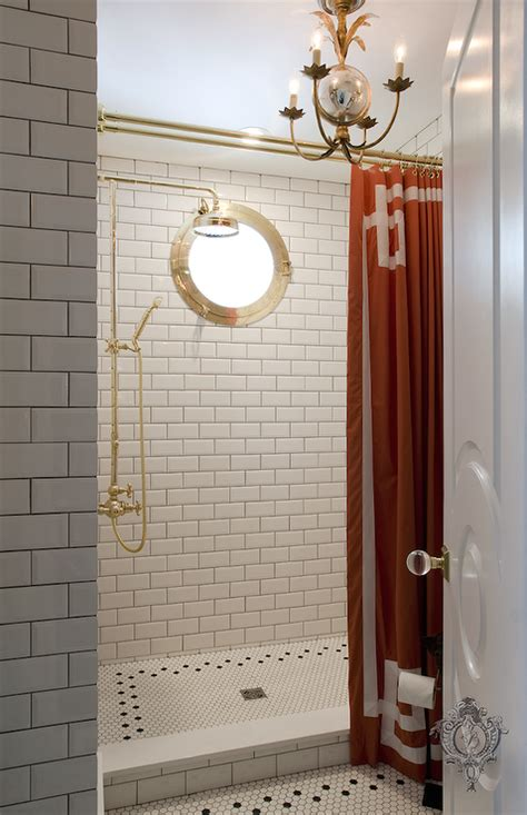 shower curtain for walk in shower greek key tiles bathroom the renovated home