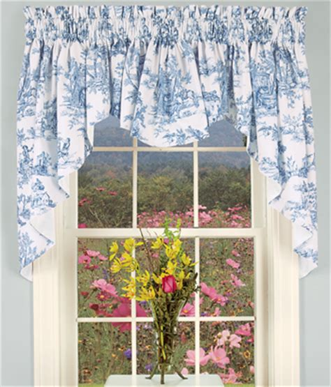 Cafe Style Curtains For Kitchens Lenoxdale Toile Swag For Farmhouse Kitchen Sink And Window Cafe Style Cortinas