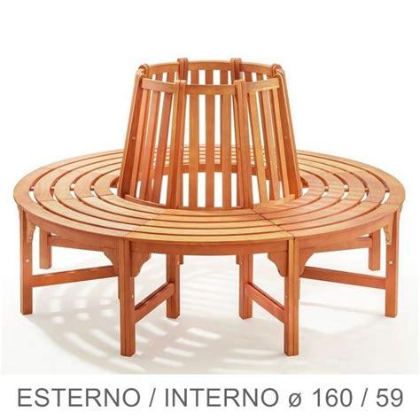 panchina legno panchina circolare in legno da giardino per giro albero
