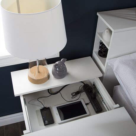 ikea nightstand charging station south shore vito nightstand with charging station and
