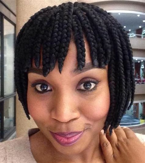 how to cut bangs on box braids 20 ideas for bob braids in ultra chic hairstyles