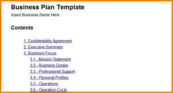 business plan simple template business plan format template