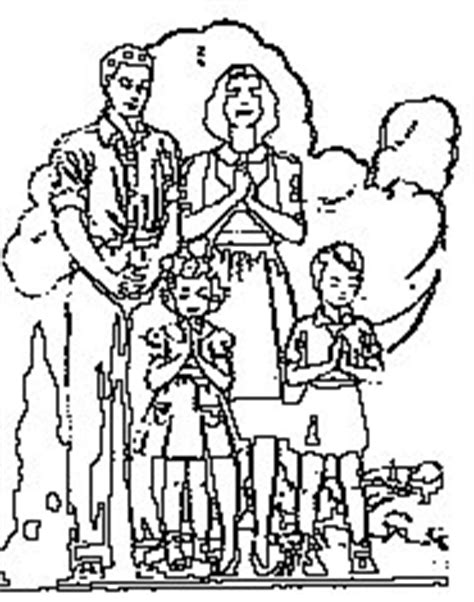 coloring page of a family praying family prayer coloring page sketch coloring page