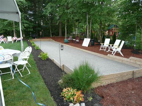 backyard bocce bocce ball court decorating the new home pinterest