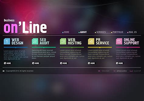 Online Business Dynamic Flash Template Dynamic Flash Website Templates Free
