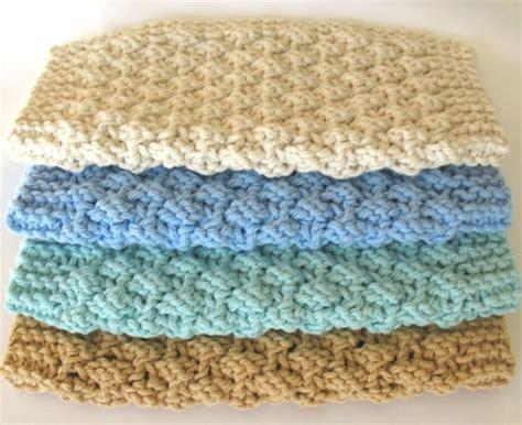 knitting washcloths knit dishcloth cotton knitted dish cloth earth