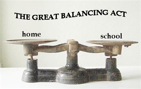 the great balancing act simple homeschool