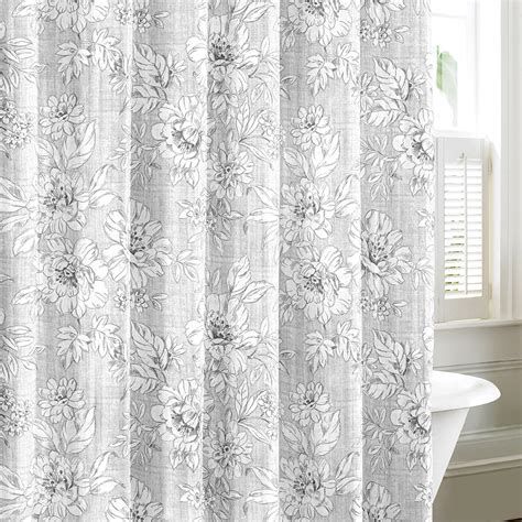 laura ashley shower curtains laura ashley iris gray shower curtain from beddingstyle com