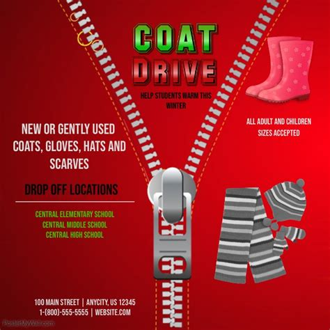 Coat Drive Template Postermywall Drive Flyer Template Free