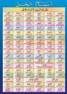 Rahasia Zikir Asmaul Husna tulisan 99 asmaul husna arab dan artinya sejuta warna
