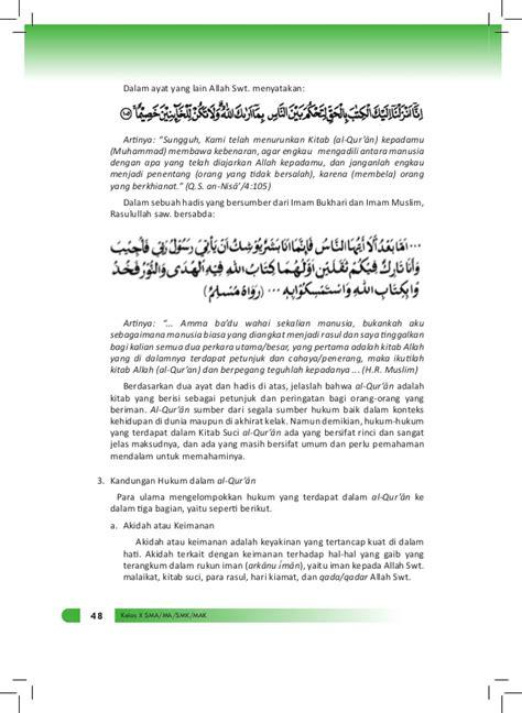 Buku Ma Fikih Untuk Ma Kelas X Kurikulum 2013 buku materi agama islam kelas x kurikulum 2013