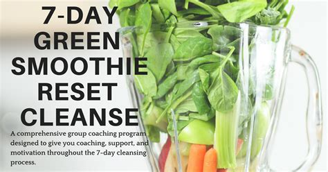 Reset Detox Diet by 7 Day Green Smoothie Reset Cleanse What Chelsea Eats