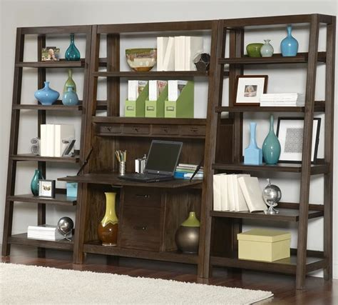 wall unit desk combo whitevan