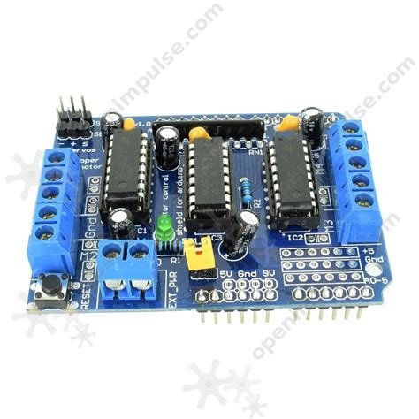 Arduino Motor Driver Shield L293d H Bridge Motor Dc Stepper Driver l293d motor driver shield for arduino open impulseopen