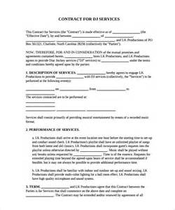 service contract template free dj contract 12 documents in pdf