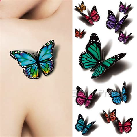 butterfly 3d tattoos 50 amazing 3d butterfly tattoos