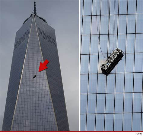 How Many Floors Is The World Trade Center 1 world trade center window washers dangling 68 floors up tmz