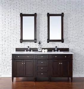 all wood vanity for bathroom 72 quot james martin brittany all wood mahogany double