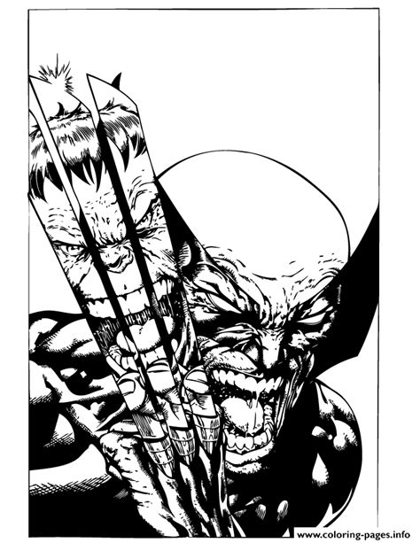 coloring pages wolverine x x wolverine fights coloring pages