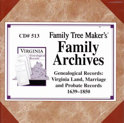 Marriage Records Virginia Family Tree Maker Virginia Land Marriage Probate