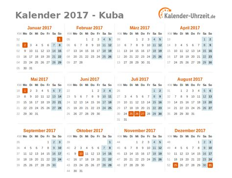 Kalender 2017 Vatertag Feiertage 2017 Kuba Kalender 220 Bersicht