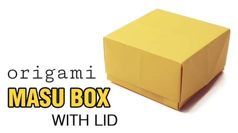 Origami Box Simple - easy origami masu box lid