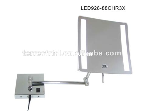 9 034 square led wall mount bathroom makeup mirror chrome lighted magnifying makeup mirror wall mount fay blog