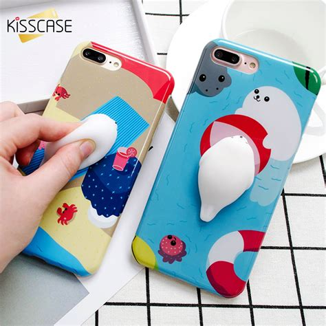 Iphone 7 Plus Soft 3d White Cat Casing Tpu Cover Bumper Armor kisscase 3d cat squishy phone cases for iphone 7 iphone 6 6s 7 plus cat claw