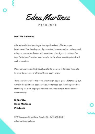 Cover Letter Template Canva Letterhead Templates Canva