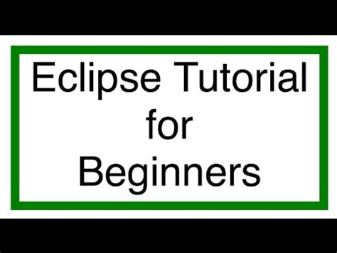 git eclipse tutorial for beginners eclipse ide tutorial doovi