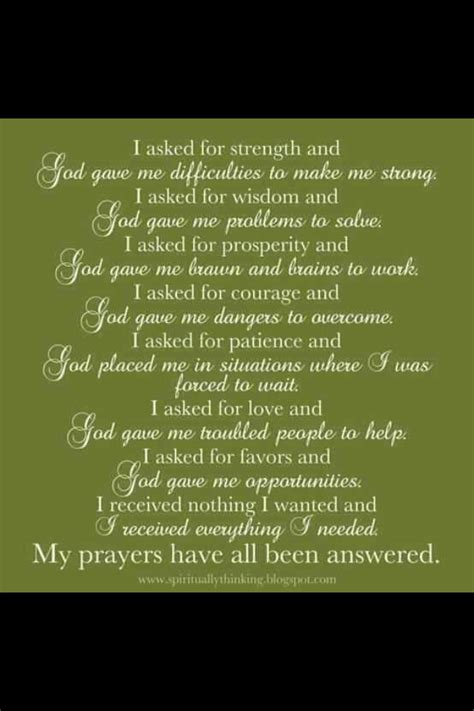 7 Sincere Answers Of Great Immoralmatriarch by Quotes About Answered Prayers Quotesgram
