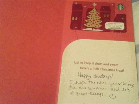 Reddit Gift Card Exchange - cute christmas card with a starbucks gift card holiday greeting card exchange