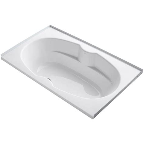 bathtub flange kohler proflex 6 ft center drain alcove with tile flange