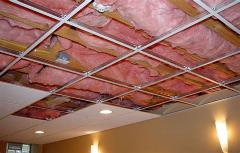 How To Install Insulation In Ceiling by Acoustic Insulation With Suspended Ceilings Arman