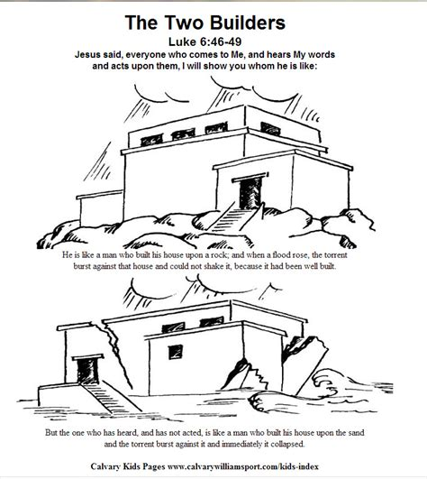 coloring pages house on the rock build a house on rock for your coloring pages coloring pages
