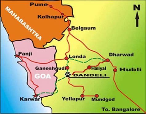 road map from mapusa to belgaum where is dandeli karnataka india